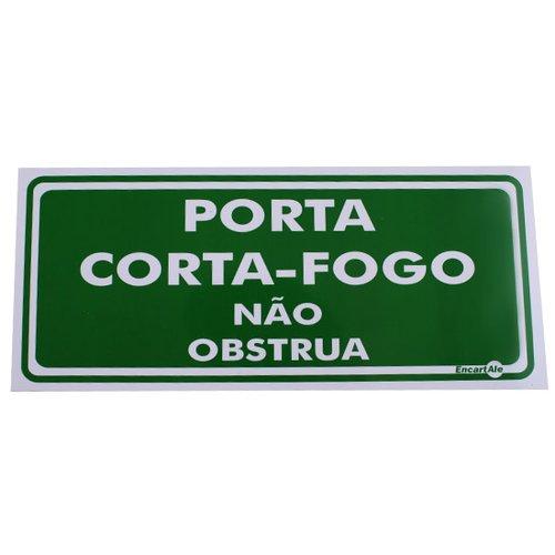 placa sinalizadora porta corta fogo