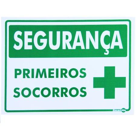 placa sinalizadora de segurança primeiros socorros