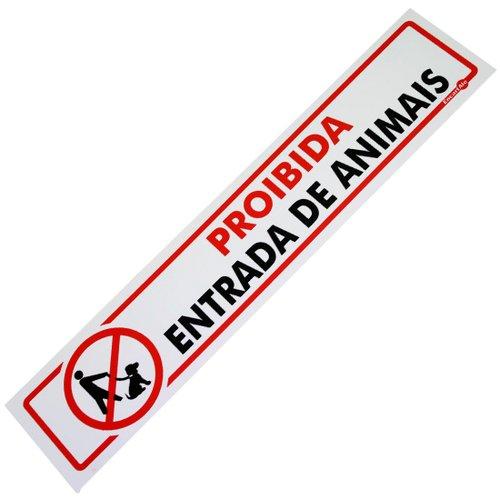 placa sinalizadora proibido entrada de animais