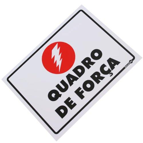 placa sinalizadora quadro de força e luz