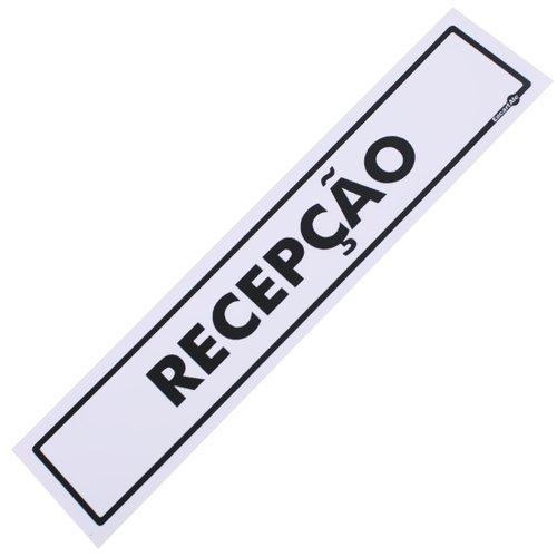placa sinalizadora para recepção