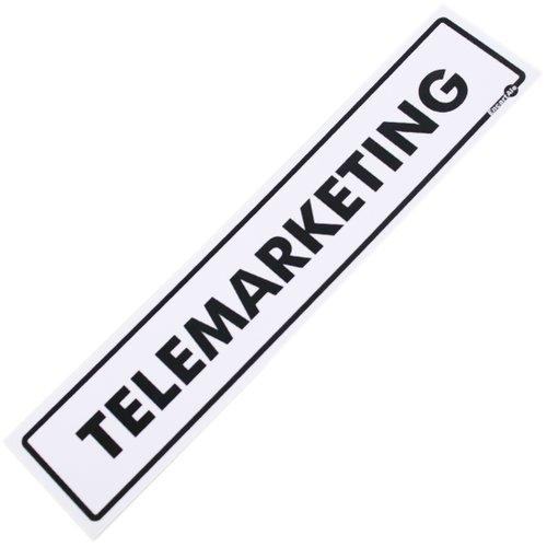 placa sinalizadora para telemarketing