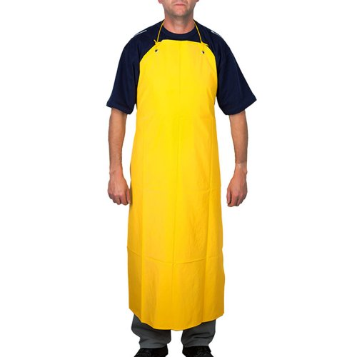 avental amarelo de pvc forrado 120 x 70 cm