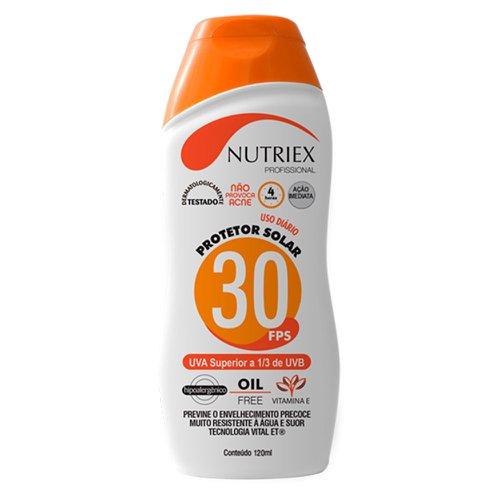 protetor solar profissional fps 30 1/3 uva 120 ml