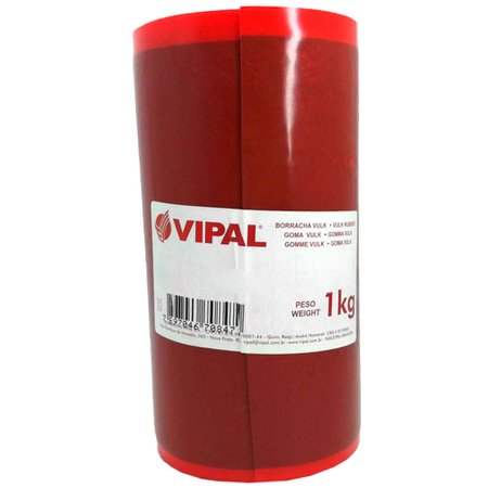 borracha vulk vulcanizadora - vulcanite 160 x 1,0mm rolo de 1kg