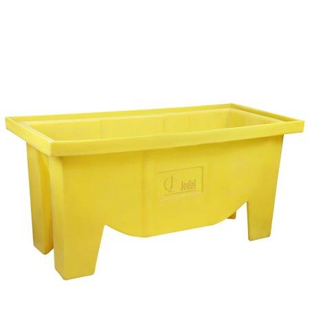 tanque para testes de vazamentos amarelo