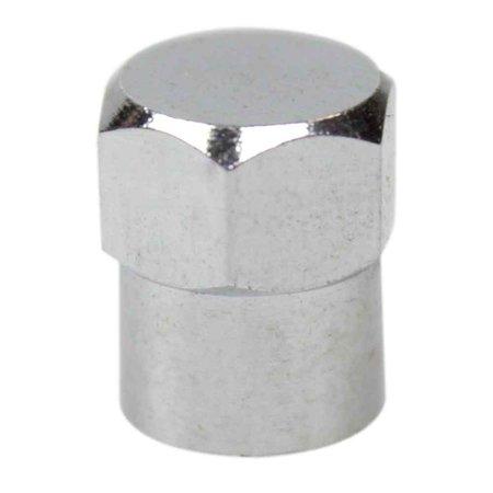 tampa cromada para válvulas de pneus com 100 unidades
