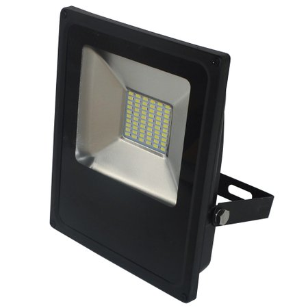 refletor led slim 30w luz amarela 3.000k bivolt