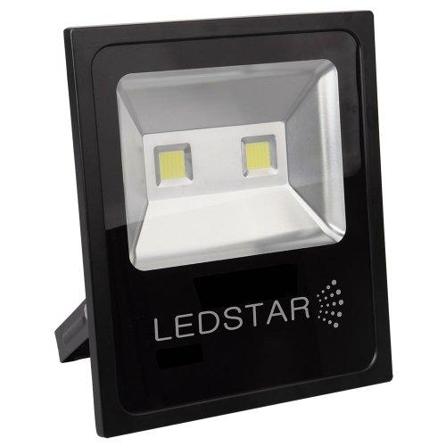 refletor led ultra slim 30w 6000k branca com alça articulada