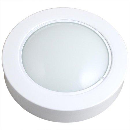 luminária circular de sobrepor com 46 leds brancas - 6500k