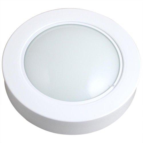 luminária circular de embutir com 46 leds brancas - 6500k