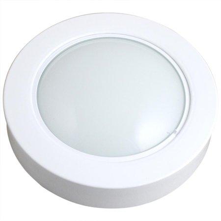 luminária circular de embutir com 69 leds brancas - 6500k