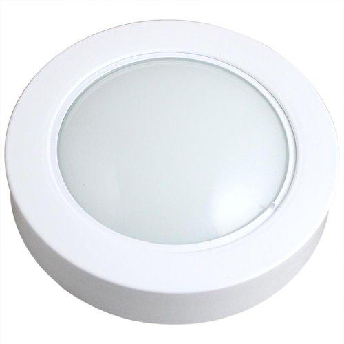 luminária circular de sobrepor com 69 leds brancas - 6500k