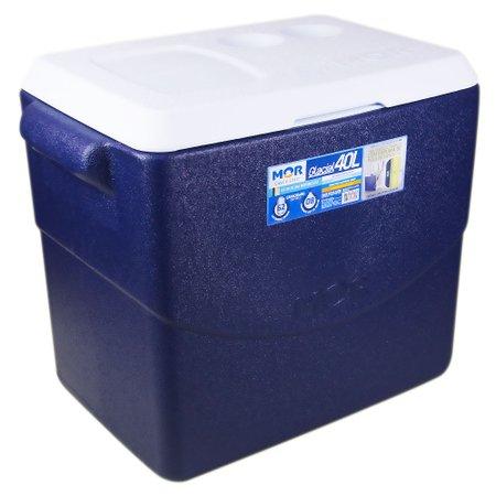 caixa térmica glacial 40 litros azul