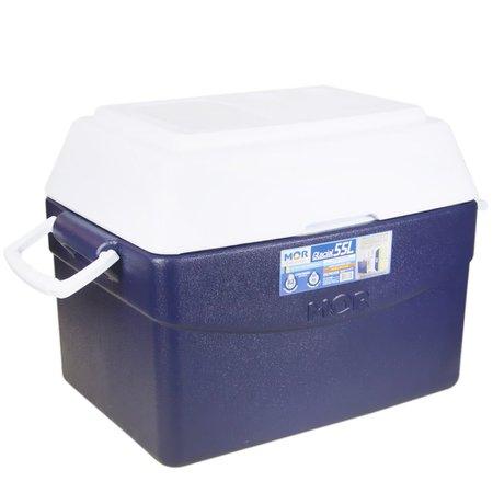 caixa térmica glacial 55 litros azul com alça nas laterais