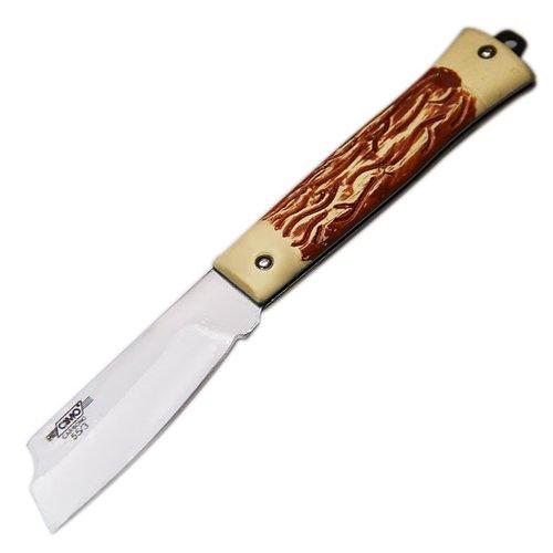 canivete de aço carbono com cabo acetato