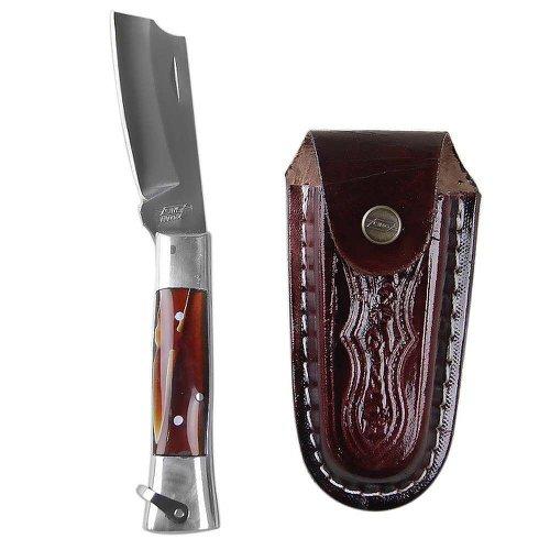 canivete de aço inox com cabo de alumínio e acrílico com bainha