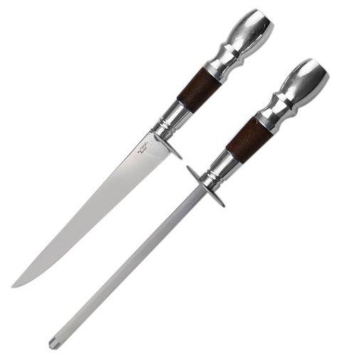 conjunto de faca e chaira