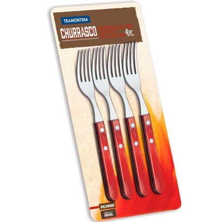 conjunto garfos de inox 4 peças pllywood