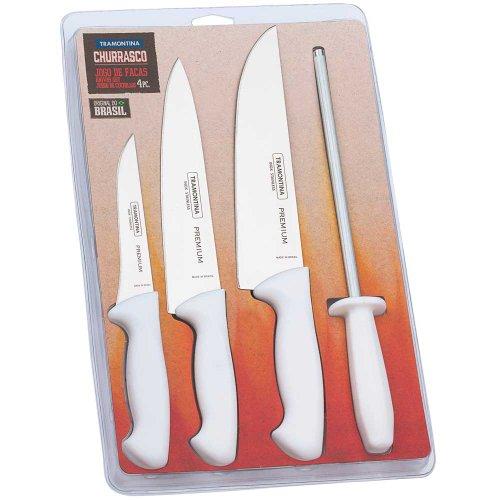 conjunto de facas premium em inox com 4 peças