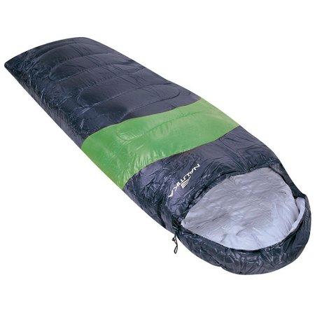 saco de dormir viper 5°c a 12°c preto e verde estilo sarcófago
