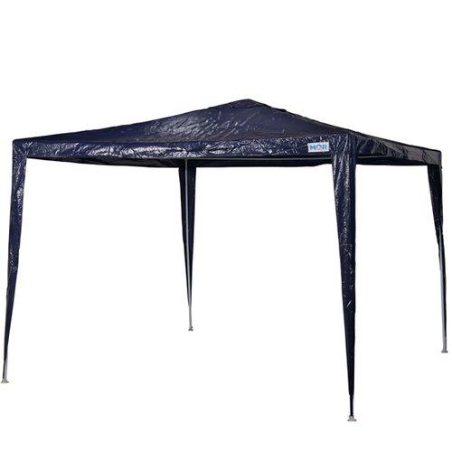 gazebo ráfia azul 3m x 3m base e topo