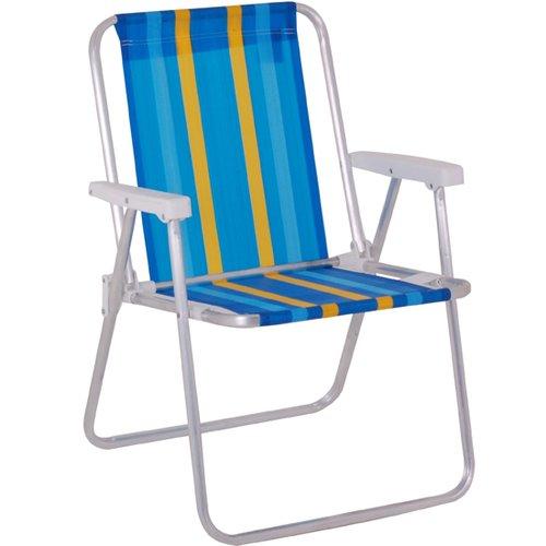 cadeira de alumínio alta com cores sortidas