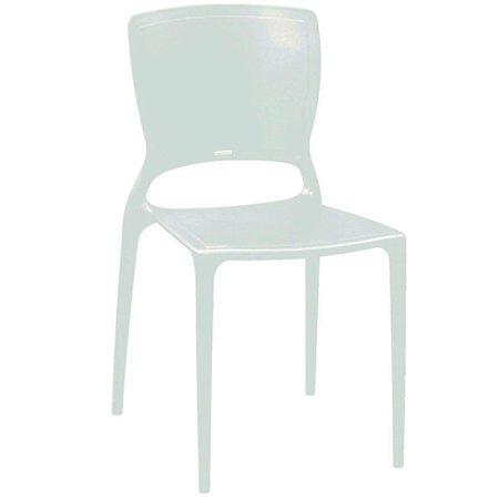cadeira sofia encosto fechado - branco