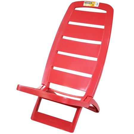 cadeira dobrável guarujá vermelha