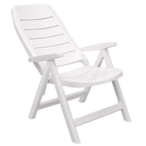 cadeira dobrável branca com encosto alto - iracema