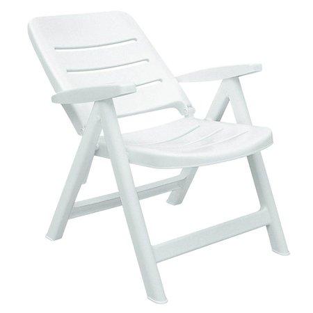 cadeira dobrável branca com encosto baixo - iracema