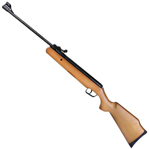 carabina de pressão montenegro calibre 5,5mm com coronha em madeira
