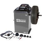 Balanceadora Motorizada de Rodas Cinza para Aros 10 a 24 Pol. 220V Monofásica
