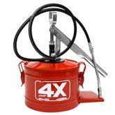 Bomba Manual para Graxa 4kg Vermelho HL-4