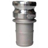 Adaptador Camlock Alumínio Tipo E 2 x 2 Pol.