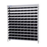 Estante Porta Componentes com 108 Caixas Pretas Nr. 3 - MARCON-EM108/3P