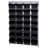 Estante  Desmontável Porta Componentes com com 28 Caixas Nr. 7 Pretas  - MARCON-EF28/7P