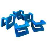 Kit com 28 Clipes Azul de União Lateral para Gavetas Empilháveis Nr. 7