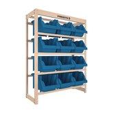 Kit Estante Gaveteiro Organizador com 12 Gavetas Nr. 7 Cor Azul