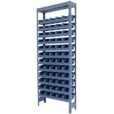 Estante Porta Componentes Azul com 60 Caixas Nr. 3
