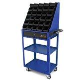 Carro aberto azul com 30 caixas BIN número 3