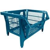 Cesto Plástico Expositor Prático Azul - PRESTO-6412A