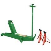 Kit Macaco Tipo Jacaré  RIBEIRO-RM0002 2T Longo Roda de Ferro + 2 Cavaletes FORTG103 2 Toneladas