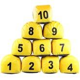 Jogo de Prismas do Número 1 a 10 Amarelo - PRISMASUL-PRIS1/10AMAR