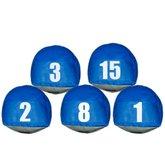 Jogo de Prismas Azuis com Números de 1 a 15