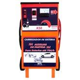 Carregador de Baterias Rápido e Lento 12V 50A com Auxilar de Partida MTL