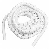 Tubo Espiral Branco - Organizador de Fios de 5 Metros com Diâmetro de 3/4 Pol.