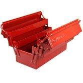 Caixa Metálica Sanfonada para Ferramentas Vermelha - KINGTONY-87402
