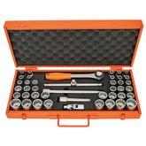 Jogo com Soquetes Estriado e Acessórios Cr-V 1/2 Pol. com 43 Peças e Maleta - TRAMONTINA PRO-44833443