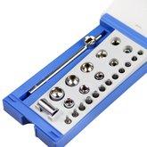 Jogo de Soquetes e Bits com Encaixe de 1/4 Pol. com 24 Peças - TRAMONTINA-41192024
